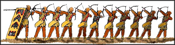 reconstruction of Persian archers
