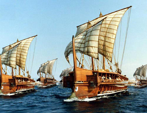 Greek fleet depiction at Artemisium
