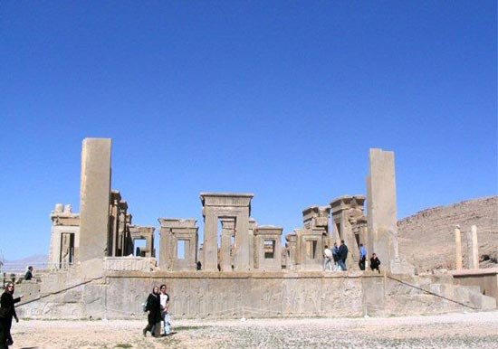 Ruins of the palace at Persepolis