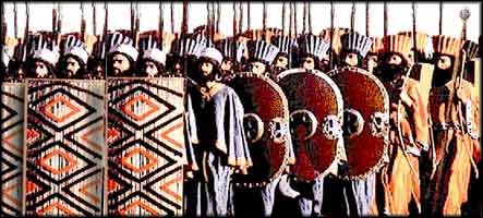 Reconstruction of Persian Infantry formation