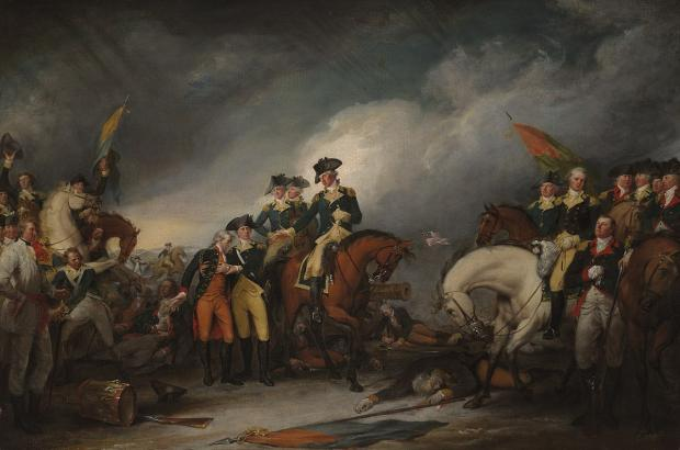 The Capture of the Hessians at Trenton December 26, 1776 by John Trumbull.