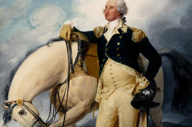 George Washington at Verplanck's Point by John Trumbull