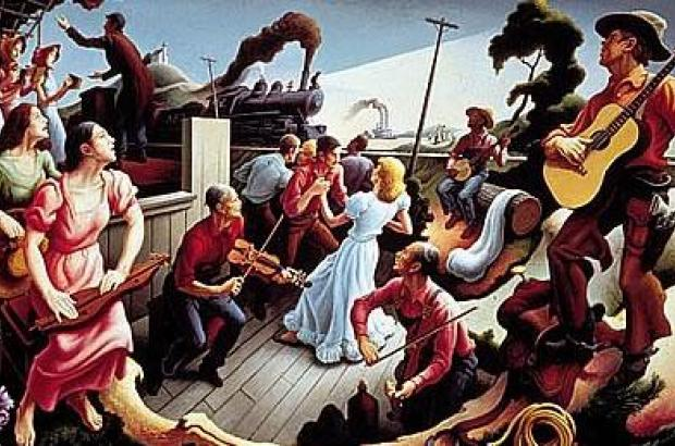 """The Sources of Country Music,"" Thomas Hart Benton, 1975."