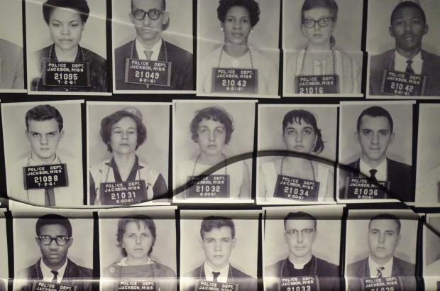 Images of Freedom Riders at the Center for Civil and Human Rights in Atlanta, Georgia.