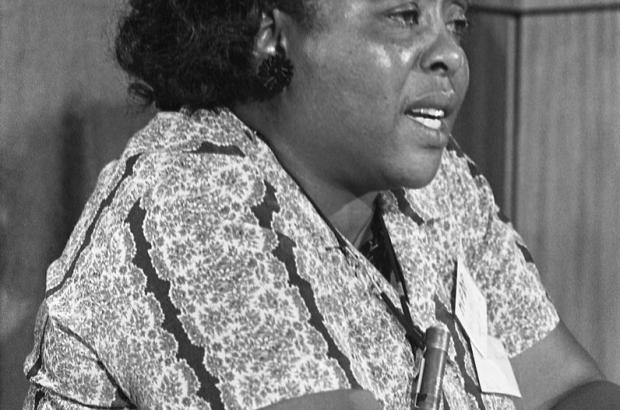 Fannie Lou Hamer at the Democratic National Convention, August 22, 1964.