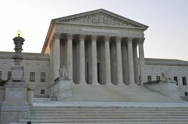 Built in 1935, the Supreme Court building sits across the street from the Capitol building in Washington D.C.