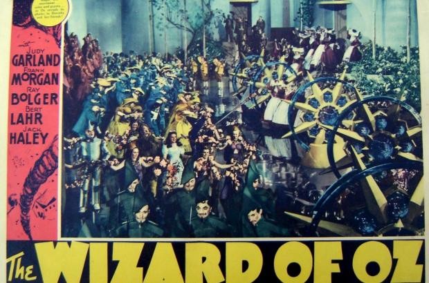 Lobby card from the original 1939 release of The Wizard of Oz.