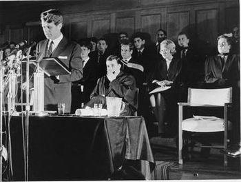 Senator Robert F. Kennedy speaking at the University of Cape Town on the Day of Affirmation (June 6, 1966)