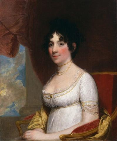Portrait of Dolley Madison by Gilbert Stuart (1804).