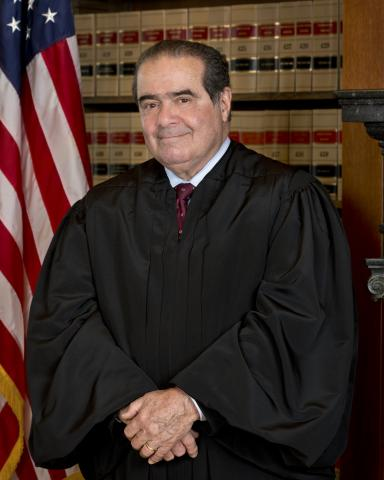 Official photograph of Associate Justice Antonin Scalia in 2013.