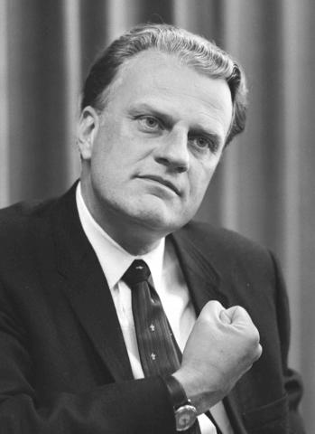 Photograph of Billy Graham in 1966.