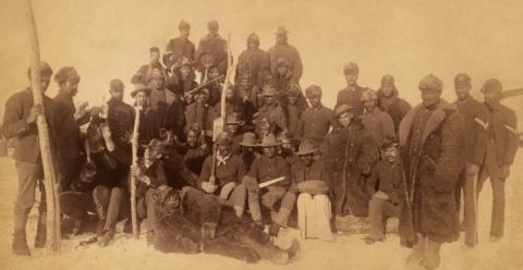 Buffalo Soldiers of the 25th Infantry in Ft. Keogh, Montana (1890).