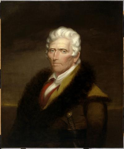 Portrait of Daniel Boone by Chester Harding (1820).
