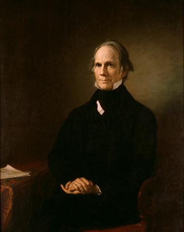 Portrait of Henry Clay by Henry Darby (c. 1858).