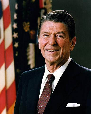 Official photograph of President Ronald Reagan in 1981.