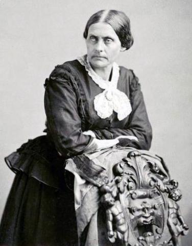 Photograph of Susan B. Anthony by Napoleon Sarony (date unknown).