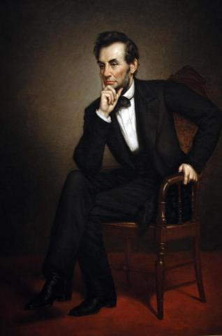 Portrait of Abraham Lincoln by George Peter Alexander Healy (1869).