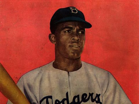 Back cover of Jackie Robinson comic book.
