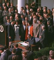 LBJ signing NEH and NEA into existence, 1965