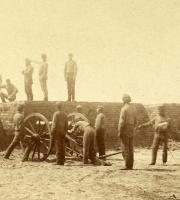 Confederate artillery near Charleston, S.C., 1861