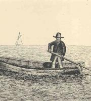 A dinghy like the one here figures in Stephen Crane's gripping tale 'The Open Boat.'