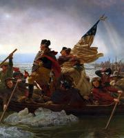 Washington Crossing the Delaware by Emanuel Leutze.
