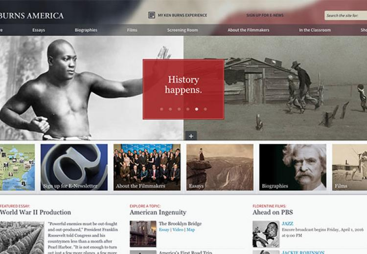 Home page image from Ken Burns' website.