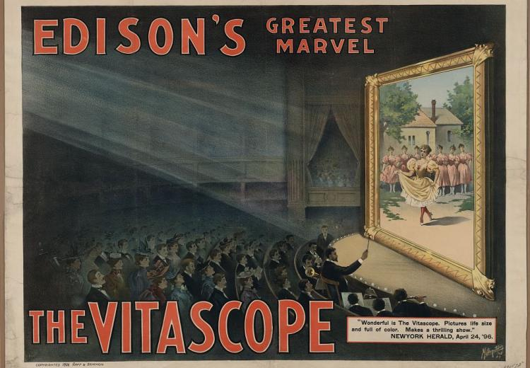 Poster advertising Edison's vitascope