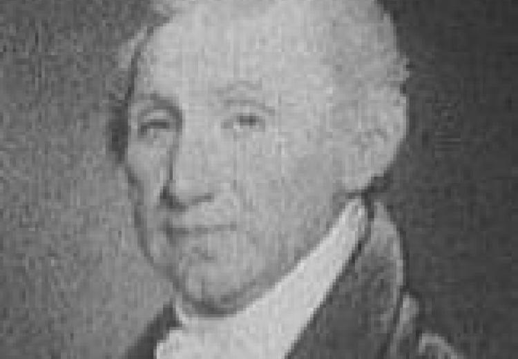 James Monroe, in a short white wig, portrait