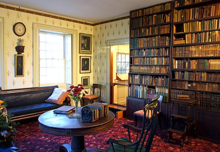 Ralph Waldo Emerson's study in his home in Concord Museum, Concord, Massachusetts.