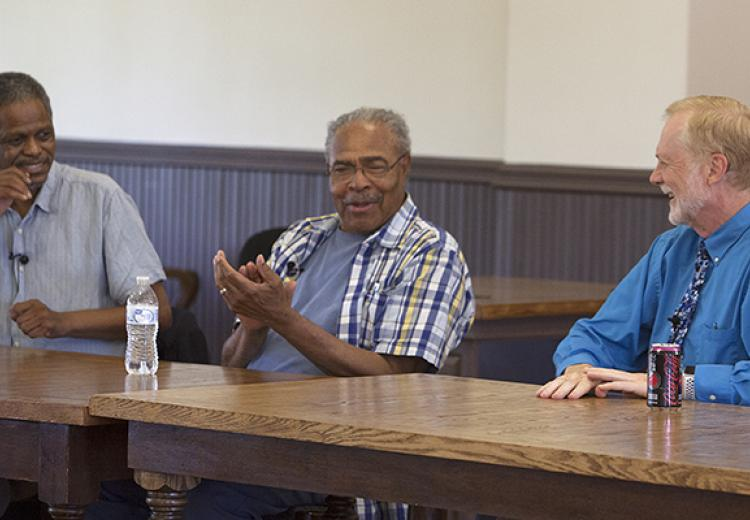 Panelists Alvin Sykes, Wheeler Parker, and Jerry Mitchell