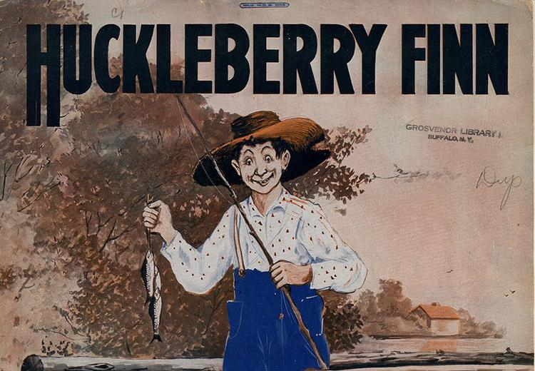 Depiction of Huckleberry Finn on 1917 sheet music cover.