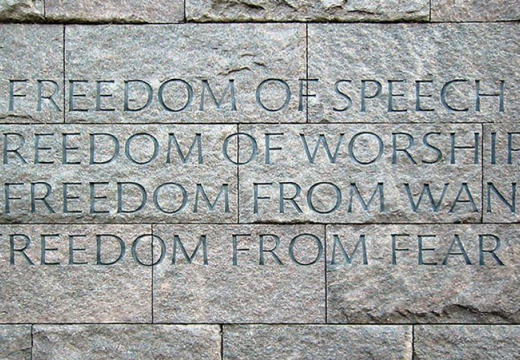 FDR Four Freedoms engraving, FDR memorial