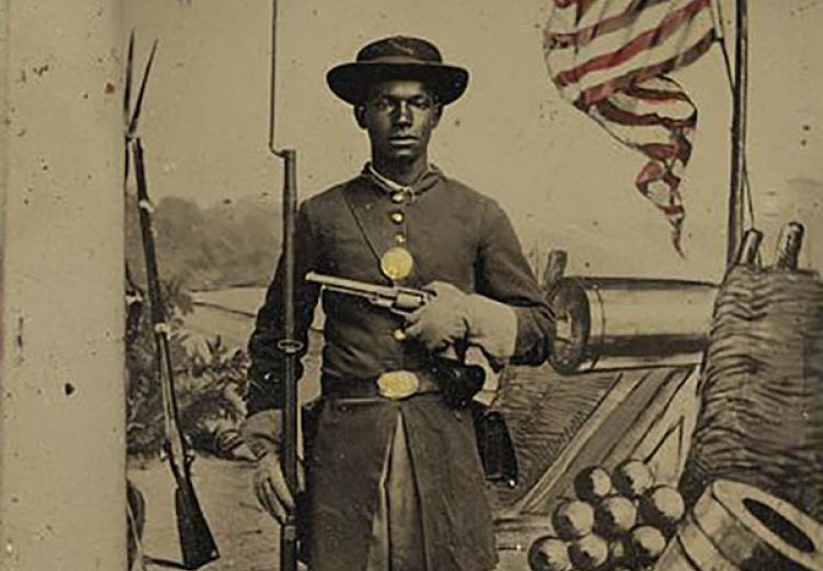 African American Union soldier, Civil War