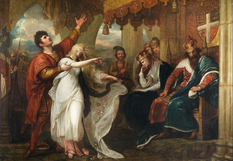 Hamlet: Act IV, Scene V (Ophelia Before the King and Queen)