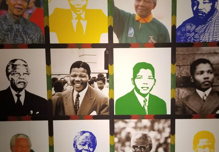 Collage of images of Nelson Mandela