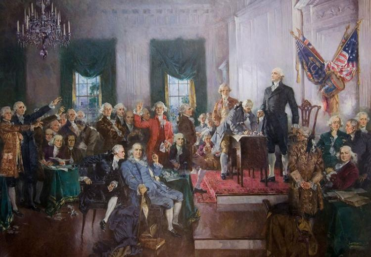 Signing of Constitution, by Howard C. Christy
