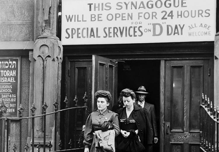Congregation Emunath Israel on West Twenty-third Street in New York City remained open 24 hours on D-Day (June 6, 1944) for special services and prayer.