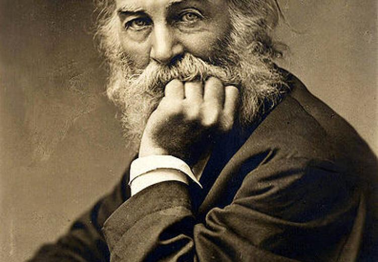 Photo of American poet Walt Whitman taken by G. Frank E. Pearsall, c. 1869