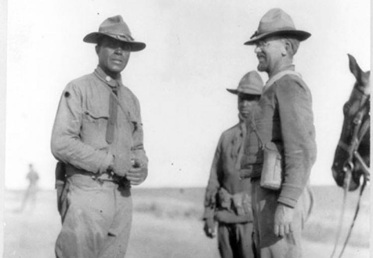 24th Infantry Reg. (Negro) in Mexico, 1916: Major Charles Young and Capt. John R. Barber.