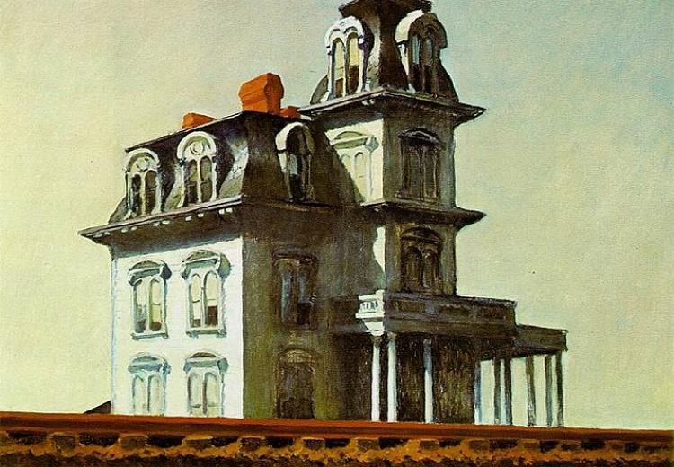 """House by the Railroad,"" Edward Hopper, 1925."