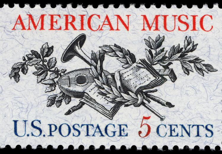 U.S. Postal stamp dedicated to American Music in 1964.