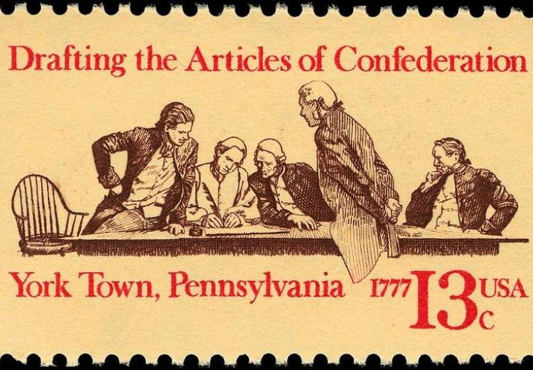 Commemorative stamp, Articles of Confederation, 200th anniversary, 1977 issue.