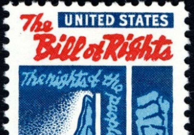 The Bill of Rights (1791) 175th anniversary was celebrated on July 1, 1966 with a 5-cent stamp