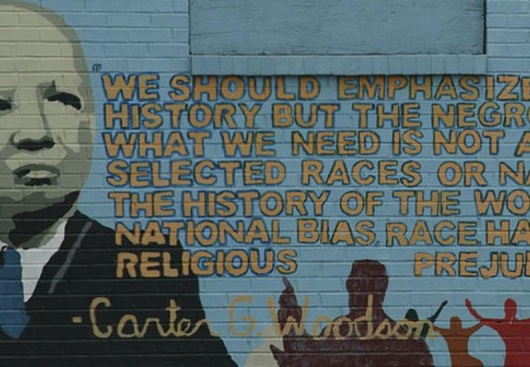 Mural of Carter G. Woodson on 9th St NW in Washington, D.C.
