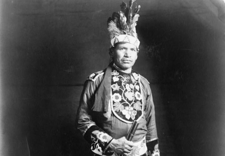 Full blood Chippewa Indian, 1918.