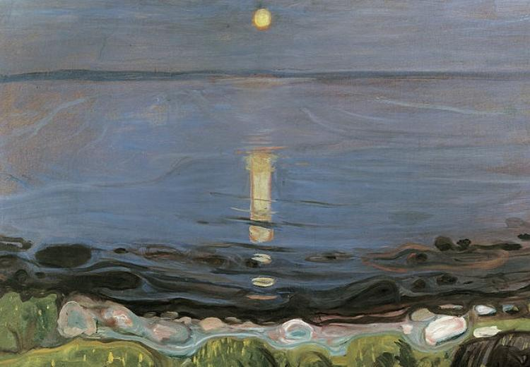 """Summer Night by the Beach"" by Edvard Munch (1902-1903)"