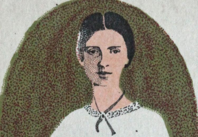 Emily Dickinson U.S postage stamp issued in 1971.
