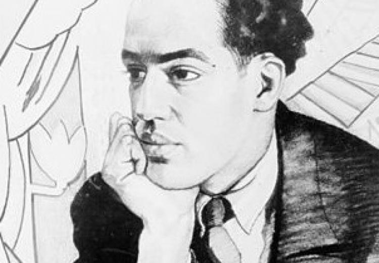 Portrait of Langston Hughes by Winold Reiss, 1927.