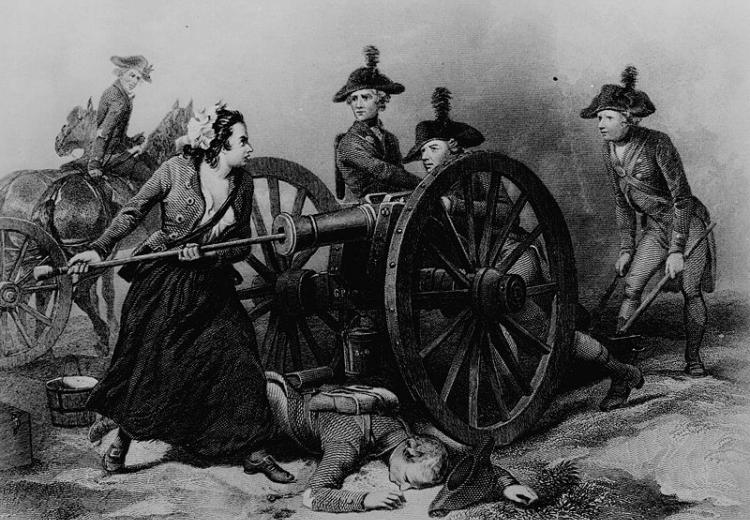 """Molly Pitcher"" at the Battle of Monmouth."